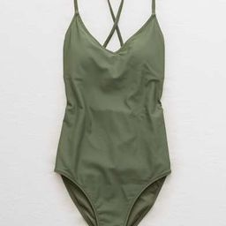 Aerie Strappy Back One Piece Swimsuit   American Eagle Outfitters (US & CA)