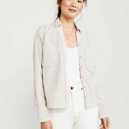 Curve-Hem Button-Up Shirt   Abercrombie & Fitch US & UK