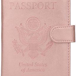 GDTK Leather Passport Holder Cover Case RFID Blocking Travel Wallet | Amazon (US)