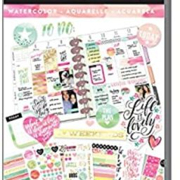 me & my BIG ideas Sticker Value Pack - The Happy Planner Scrapbooking Supplies - Watercolor Theme...   Amazon (US)