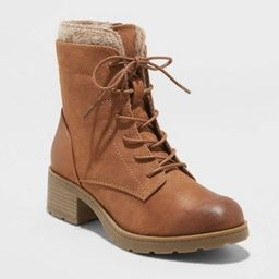 Women's Dez Microsuede Lace-Up Boots - Universal Thread™   Target