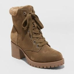 Women's Aveline Microsuede Heeled Lace Up Fashion Boots - Universal Thread™   Target