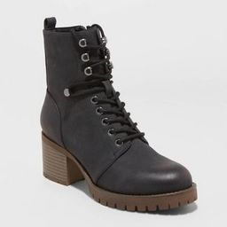 Women's Kayce Faux Leather Heeled Lace Up Bootie - Universal Thread™   Target