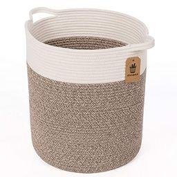 Goodpick Medium Cotton Rope Basket - Woven Basket - Baby Laundry Basket - Blanket Basket - Toy St...   Amazon (US)
