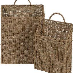 Household Essentials ML-5613 Seagrass Wall Basket Set, 2 Piece   Amazon (US)