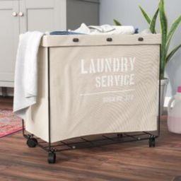 Williston Forge Lanham Army Laundry Hamper on Wheel   Wayfair   Wayfair North America