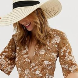 South Beach Exclusive oversize straw hat with bow   ASOS   ASOS US