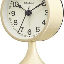 Chelvee Alarm Clock,3 inches Quartz Analog Desk Alarm Clock, Silent No Ticking,Battery Operated   Amazon (US)