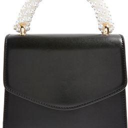 Aurora Imitation Pearl Faux Leather Handbag | Nordstrom