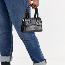 ASOS DESIGN micro grab bag with curved flap and detachable strap | ASOS | ASOS BE