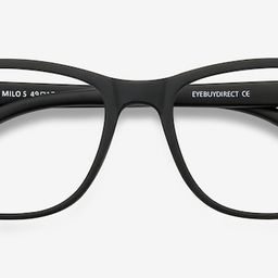 Milo - Square Matte Black Frame Glasses | EyeBuyDirect | EyeBuyDirect.com
