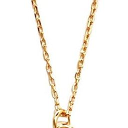 Carved Gold Coin Pendant Necklace for Women Girls Men 925 Sterling Silver 18K Gold Plated Simple ... | Amazon (US)