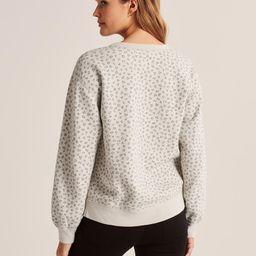 Animal Print Crewneck Sweatshirt   Abercrombie & Fitch US & UK