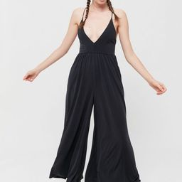 UO Genesis Cupro Plunging Jumpsuit | Urban Outfitters (US and RoW)