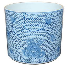"""8"""" Floral Chain-Link Planter, Blue/White 