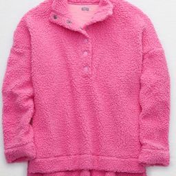 Aerie Cloud Sherpa Oversized Pullover | American Eagle Outfitters (US & CA)