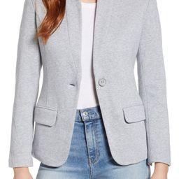 Notch Collar Cotton Blend Blazer | Nordstrom
