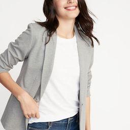 Classic Ponte-Knit Blazer for Women | Old Navy (US)