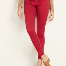 High-Waisted Button-Fly Sateen Rockstar Super Skinny Jeans for Women | Old Navy (US)