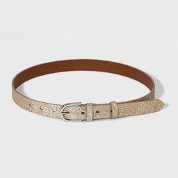 Women's Glitter 2 Loops Belt - A New Day™ Gold   Target
