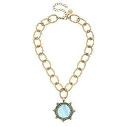 Venetian Glass Coin Necklace   Susan Shaw