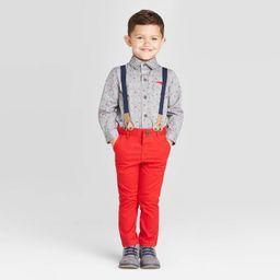 Toddler Boys' 3Pc Valentines Day Shirt & Suspender - Cat & Jack™ Charcoal | Target