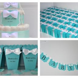 Baby and Co. Baby Shower Party Package Bundle w/ 1 Diaper Cake, 25 Personalized Popcorn Boxes, 25...   Etsy (US)