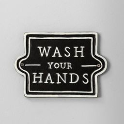 Wall Sign Wash Your Hands Black - Hearth & Hand™ with Magnolia | Target