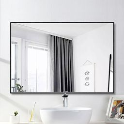 Eline Rectangular Thin Modern and Contemporary Bathroom Mirror | Wayfair North America