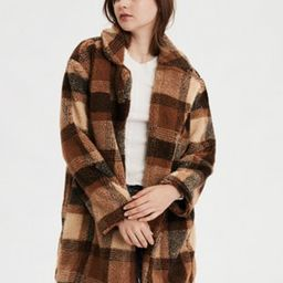AE  Faux Sherpa Plaid Coat   American Eagle Outfitters (US & CA)