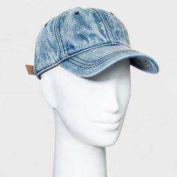 Women's Baseball Denim Hats - Universal Thread™ Blue One Size | Target