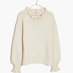 Ruffle-Neck Pullover Sweater | Madewell