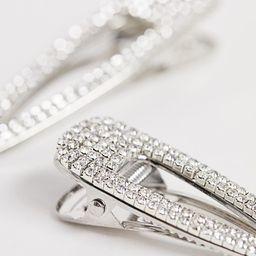 DesignB London crystal hair clips - 2 pack | ASOS US