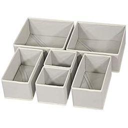 Simple Houseware Closet Underwear Organizer Drawer Divider 4 Set, Gray | Amazon (US)
