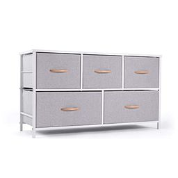 ROMOON Dresser Organizer with 5 Drawers, Fabric Storage Drawer Unit, Dresser Tower for Bedroom, H... | Amazon (US)