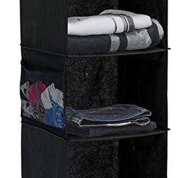 Simple Houseware 5 Shelves Hanging Closet Organizer, Black | Amazon (US)