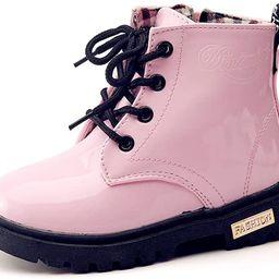 Boy's Girl's Waterproof Side Zipper Lace-Up Ankle Boots (Toddler/Little Kid/Big Kid) | Amazon (US)