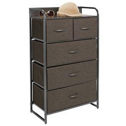 mDesign Tall Dresser Storage Chest, 5 Fabric Drawers | Target