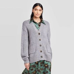 Women's Tinsel Puff Long Sleeve Cardigan - Who What Wear™   Target