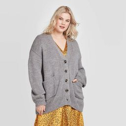 Women's Plus Size Tinsel Puff Long Sleeve Cardigan - Who What Wear™   Target