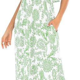 Womens Ruffled Printed Floral Long Strapless Summer Dresses with Pockets | Amazon (US)
