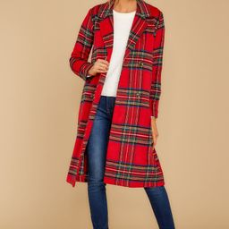 Make My Holiday Red Plaid Coat   Red Dress