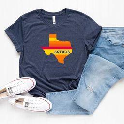 Astros Baseball T-Shirt - Houston Baseball Tee - Astros Shirt - Houston T-Shirt - Baseball T - Ho... | Etsy (US)