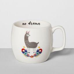 16oz Porcelain No Drama Llama Mug White - Opalhouse™ | Target