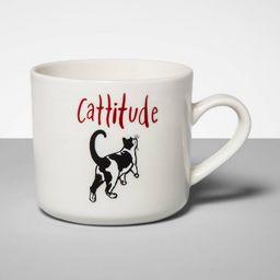 16oz Stoneware Cattitude Mug Cream - Opalhouse™ | Target