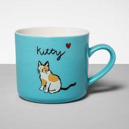 16oz Stoneware Kitty Mug Blue - Opalhouse™ | Target
