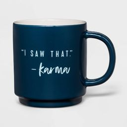 16oz Stoneware I Saw That Mug Blue - Threshold™ | Target