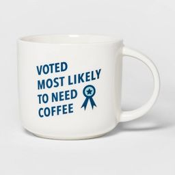 15oz Stoneware Voted Most Likely to Need Coffee Mug Cream - Threshold™ | Target
