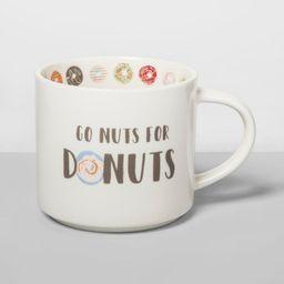 16oz Porcelain Go Nuts For Donuts Mug Cream - Opalhouse™ | Target