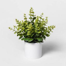 "12"" x 10"" Artificial Eucalyptus Arrangement in Pot Green/White - Project 62™   Target"